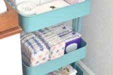 ikea cart for a nursery