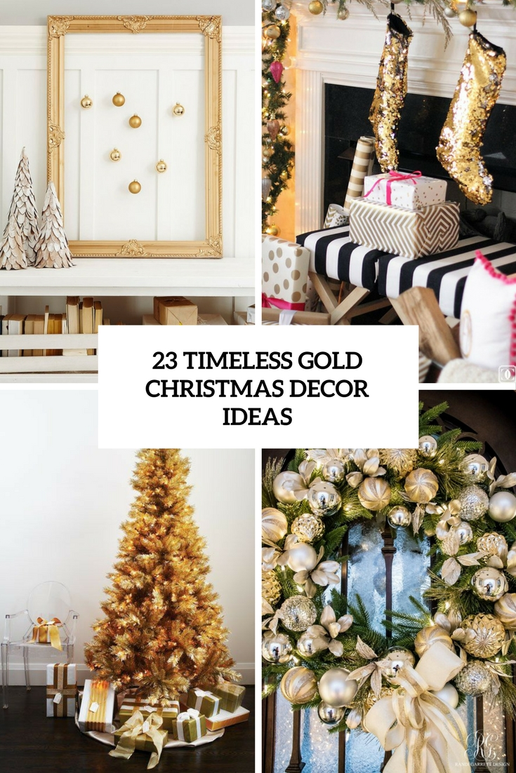 23 Timeless Gold Christmas Decor Ideas - DigsDigs