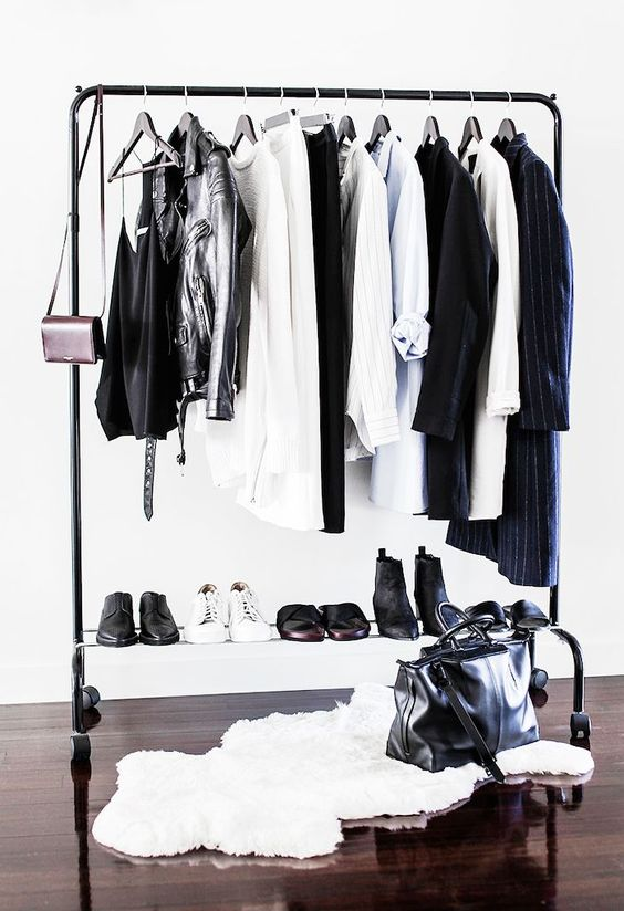 a makeshift closet like this one can be placed in any room and space you want