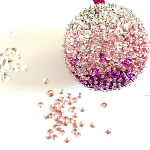 sequin christmas ornaments