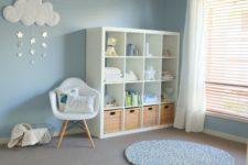 ikea kallax for a nursery