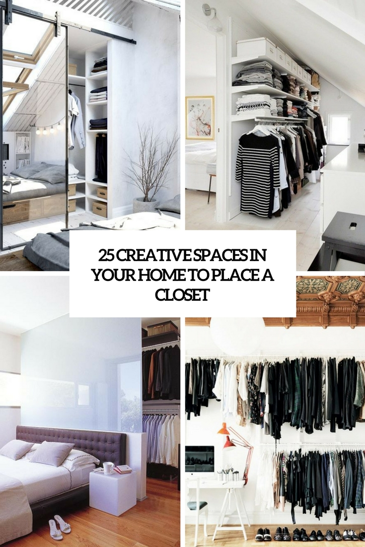 creative spaces in your home to place a closet cover