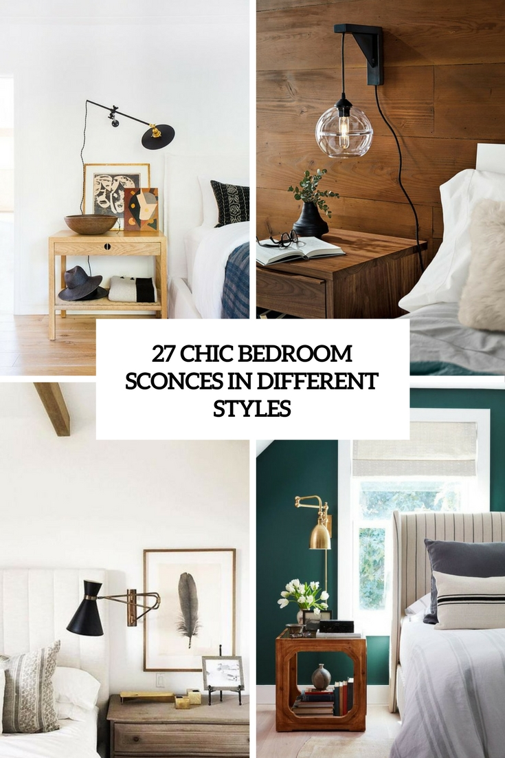 chic bedroom sconces in different styles cover