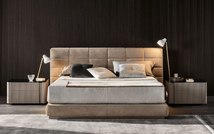 Lawrence Bed by Minotti (via www.furniturefashion.com)