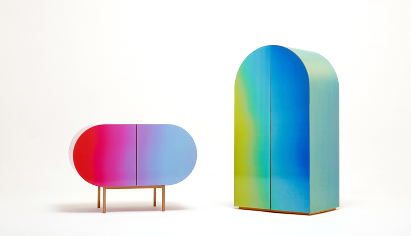 Color Flow is a unique furniture collection that changes shades and features cool futuristic shapes