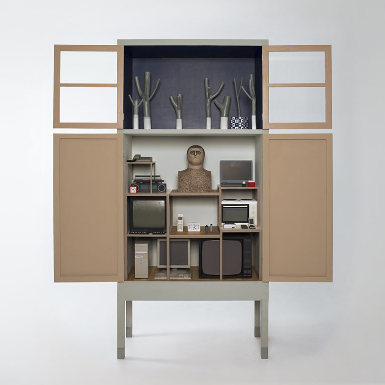 Unique Cabinet That Shows The Way We Live