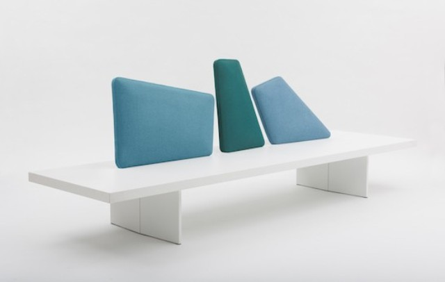 Iceland Bench by Segis is a beautiful furniture piece that is inspired by glaciers and features colors that are characteristic for them