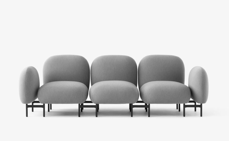 Isole is a modular seating system that was inspired by Japanese poetry and called in Italian