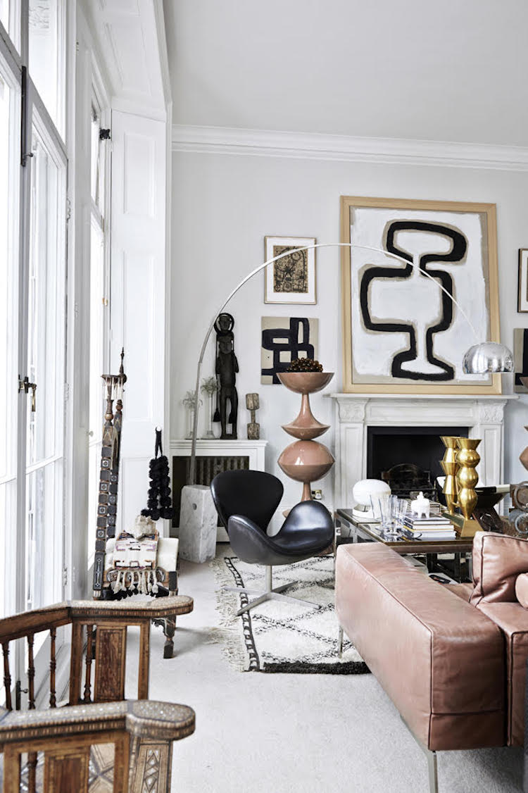 01-This-home-is-boho-and-Scandinavian-at-once-it-blends-two-incompatible-styles-in-one-and-they-look-natural Boho Scandinavian Home With Lots Of Artworks