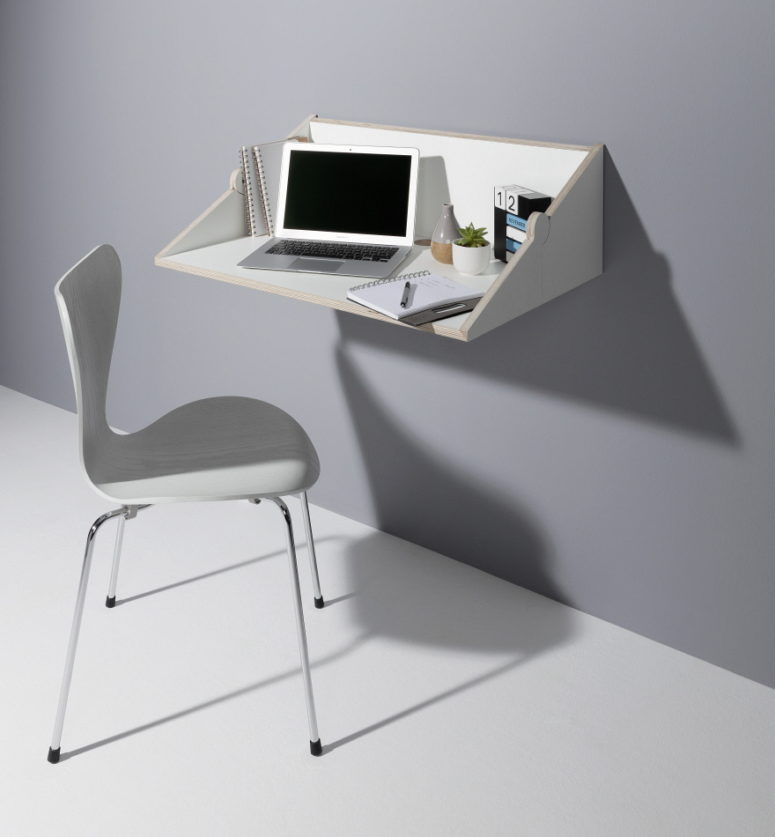 01-Twofold-desk-is-a-modern-wall-mounted-piece-and-shelf-in-one-which-is-ideal-for-any-small-space-775x837 Twofold Shelf And Wall-Mount Desk In One