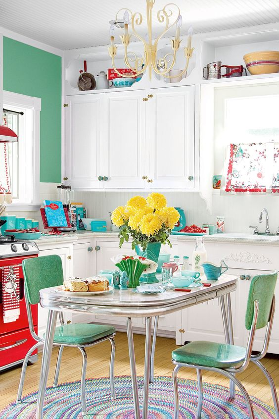 Groovy 25 Ideas To Give Your Kitchen A Retro Feel Home Interior And Landscaping Staixmapetitesourisinfo