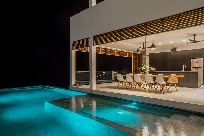 The whole villa is built around it and the sea views to make the house more eye catchy