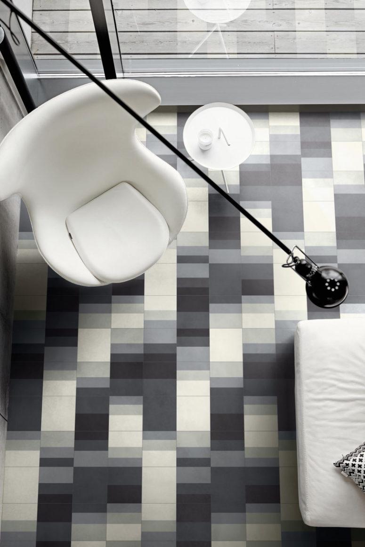 Go for monochrome graphics for a modern or Scandinavian interior