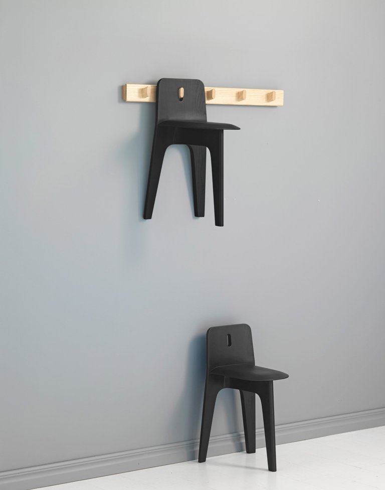 Stove chairs can work as sculptures on the wall, such a functional and creative idea