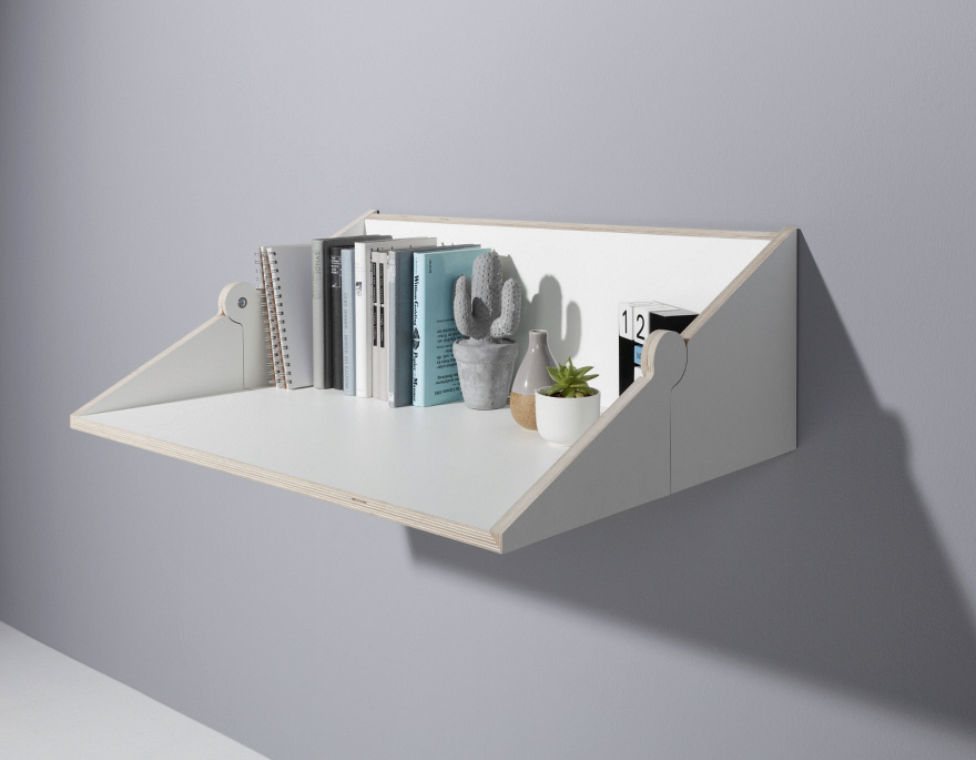 You can extend the shelf into a desk anytime you need, very comfortable and functional