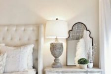 05 a Provence bedroom can be completed with a whitewashed dresser of a vintage look