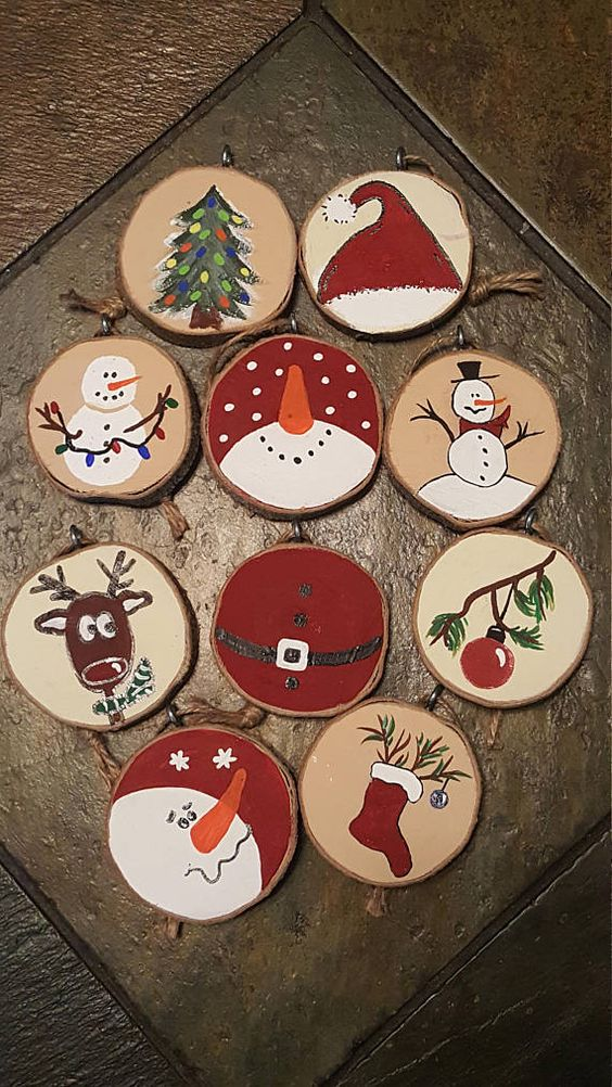 25 Rustic Wood Slice Christmas Decor Ideas