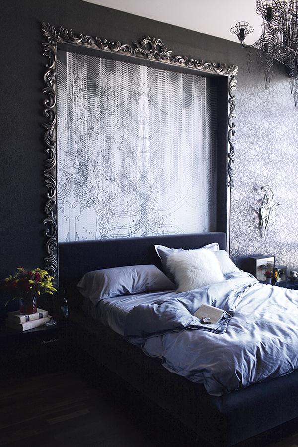 Bedroom Grey Bed