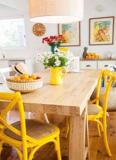 25 ideas to give your kitchen a retro feel digsdigs - Decorating ideas cheerful kitchen ...