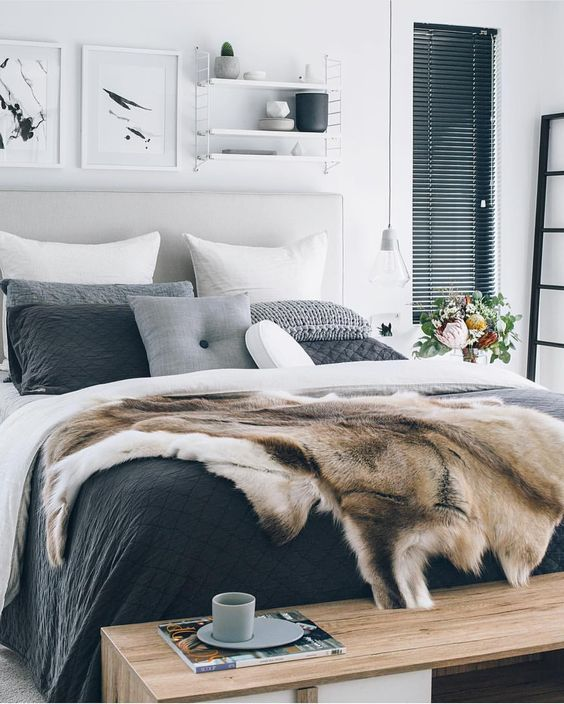 23 ways to declutter your bedroom and make it welcoming for White fur bedroom