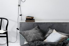 15 geometric bedding in black and white will fit a Scandinavian or masculine space