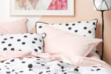 16 pink and polka dot bedding is great for a girlish space