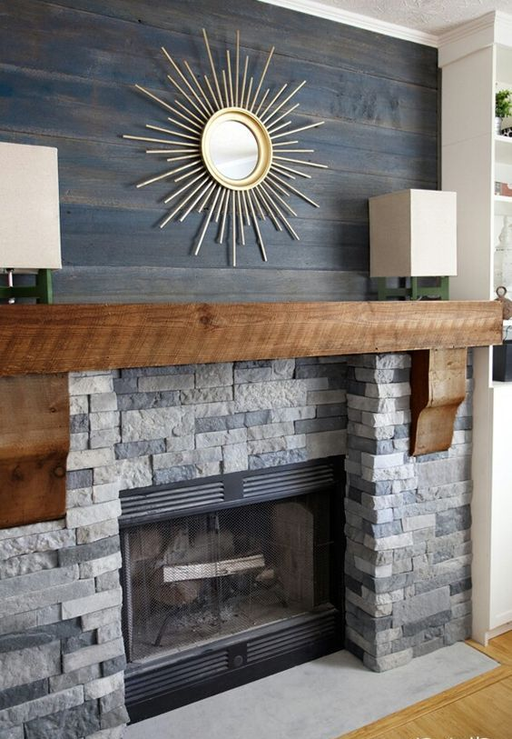 4 tips and 25 ideas to recreate barn style at home digsdigs - Stone and wood fireplace ...