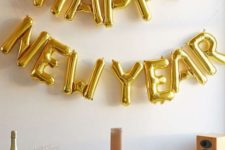 19 a gold balloon garland can be made by you and will decorate any zone or space
