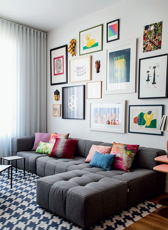 a colorful gallery wall to add color and prints to your space