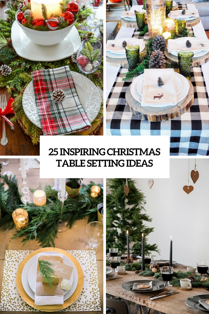 25 inspiring christmas table setting ideas digsdigs Christmas place setting ideas