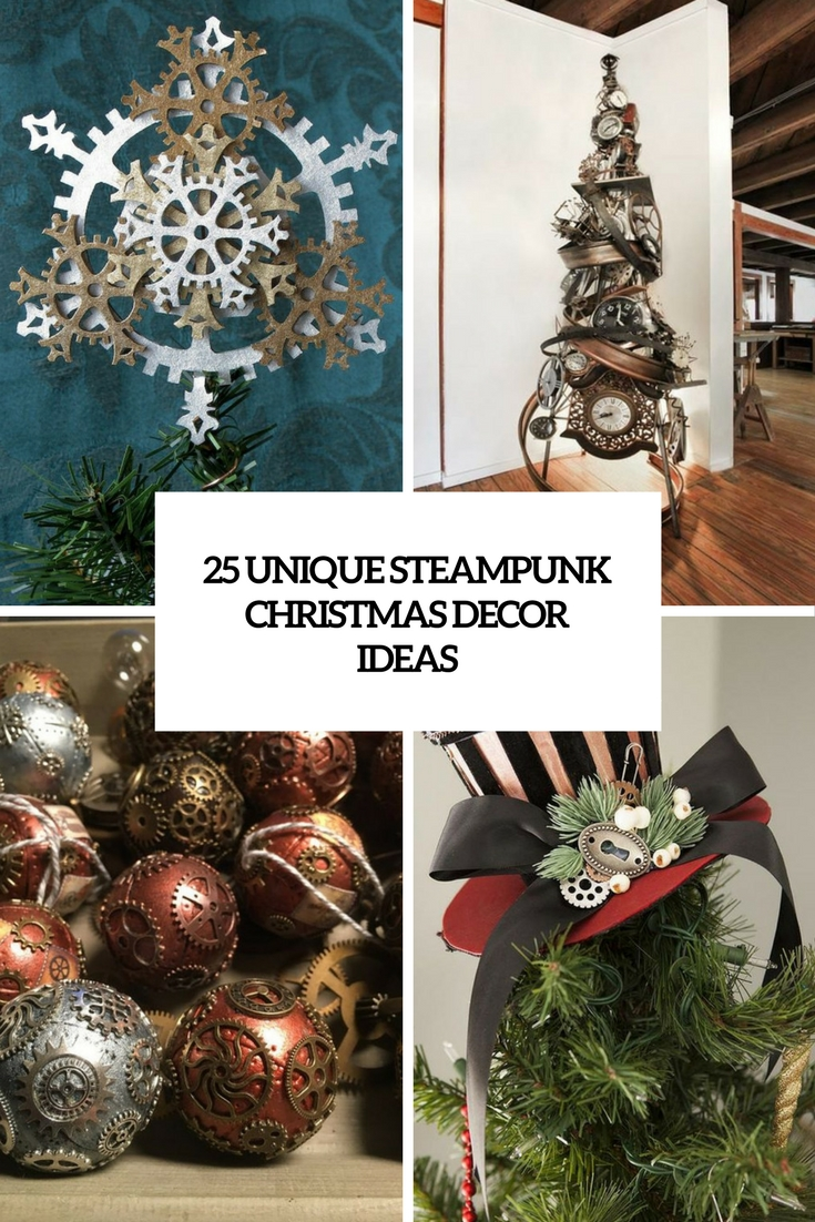 25 Unique Steampunk Christmas Decor Ideas