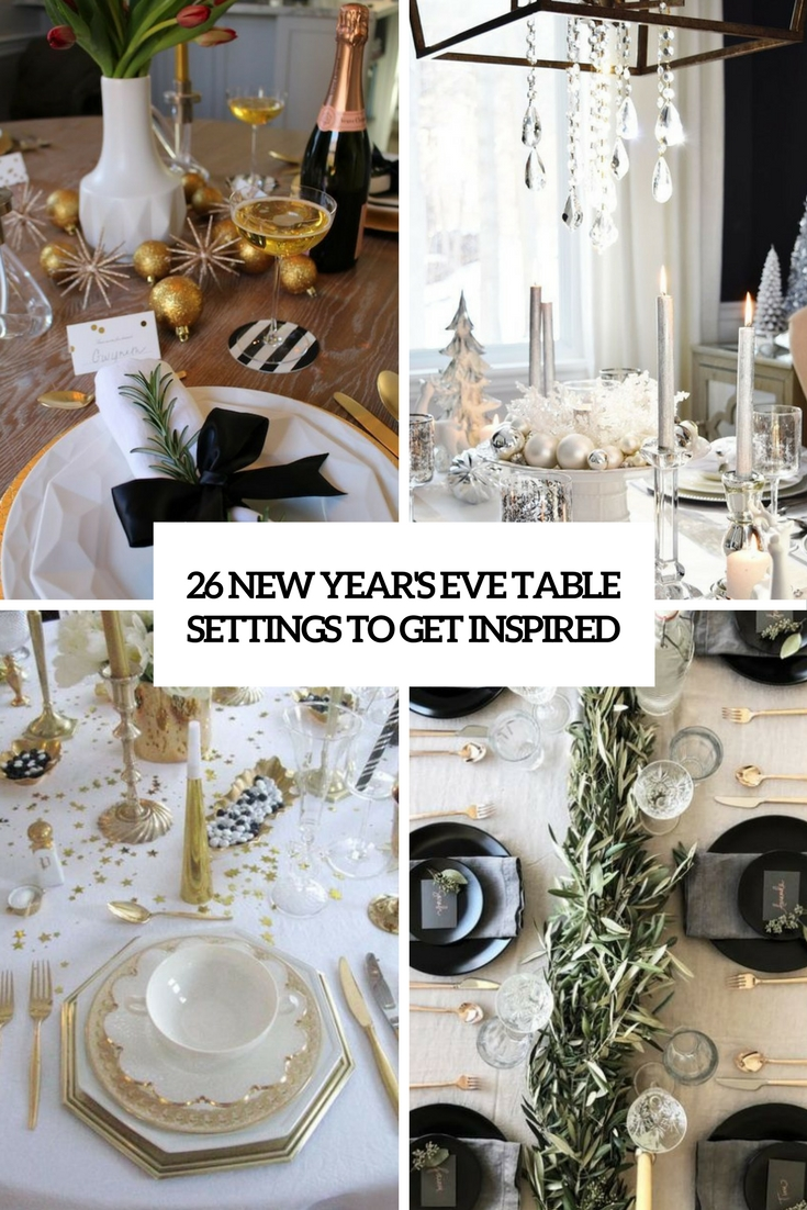 26 New Year\'s Eve Table Settings To Get Inspired - DigsDigs