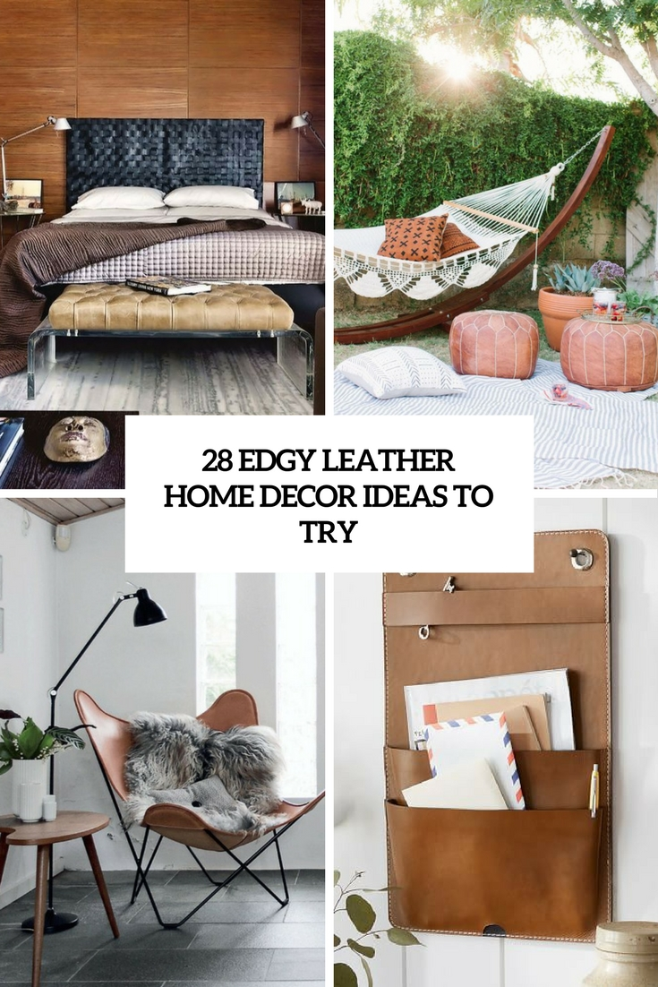 edgy leather home decor ideas to try cover