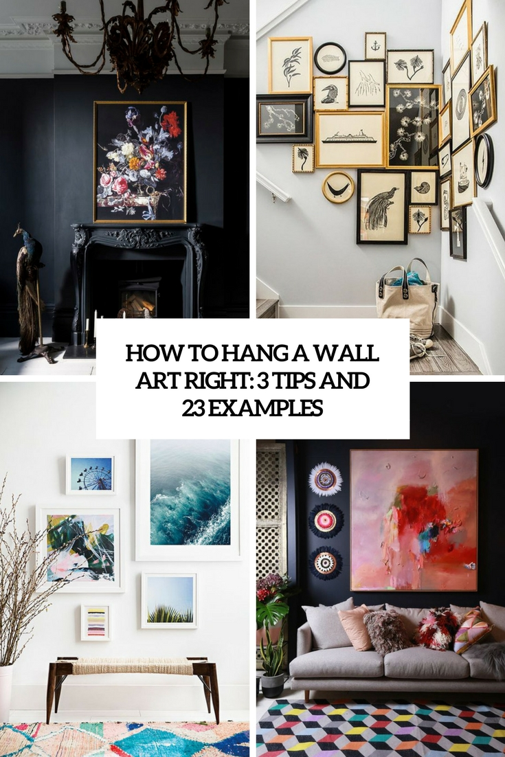 how to hang a wall art right 3 tips and 23 examples cover