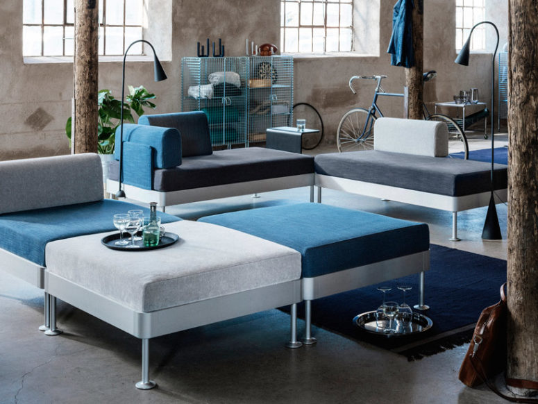 Flexible Delaktig Sofa By IKEA And Tom Dixon