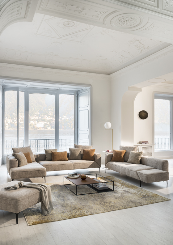 Elegant Modular Longueville Landscape Sofa