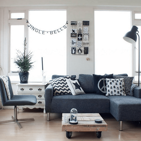 This Scandinavian apartment features a restraint color palette and some textural touches