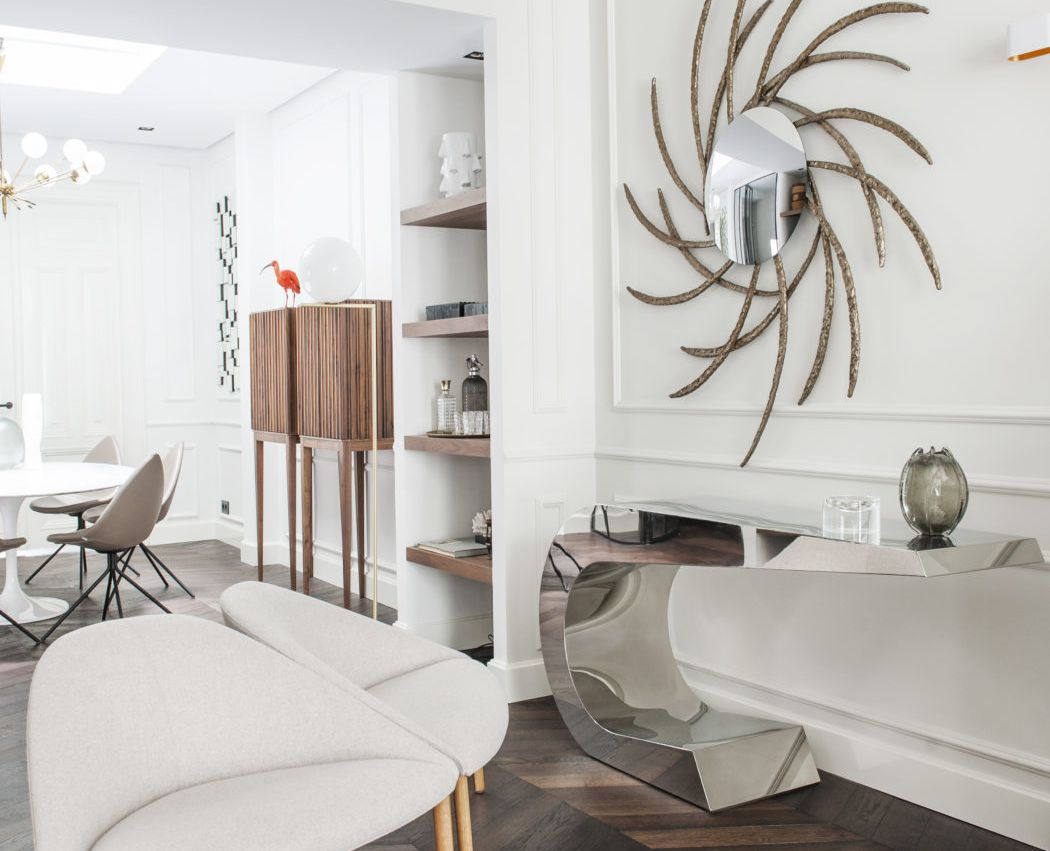 This modern home in Amsterdam is dotted with eccentric decorations and art and every its space catches an eye
