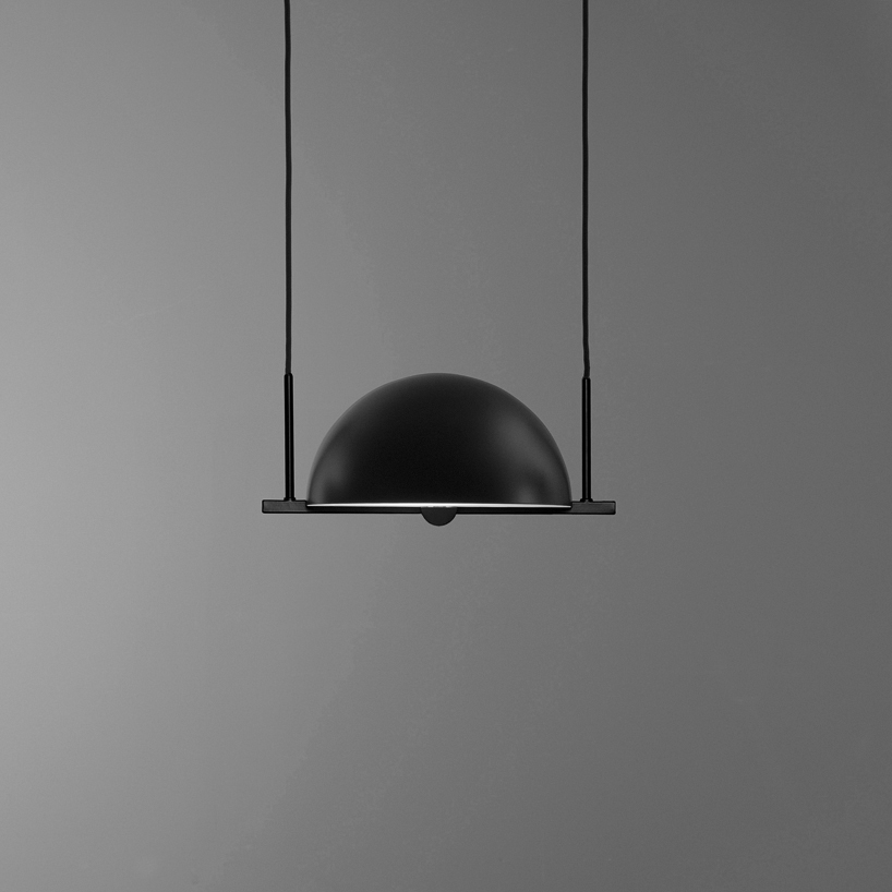 Trapeze pendant lamp was inspired by circus and combines grace and style