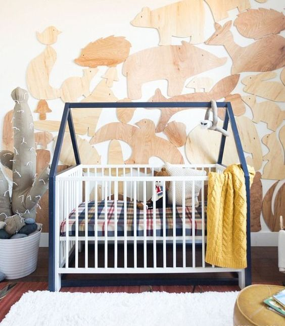 Gulliver cot by IKEA with a cool hack is ideal for this boy's nursery