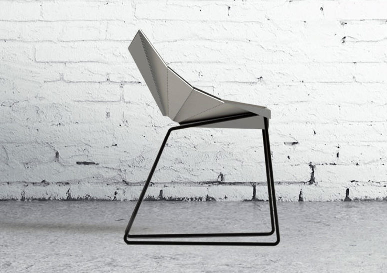 It's a sharp modern and industrial metal seating solution with an edgy and cool look