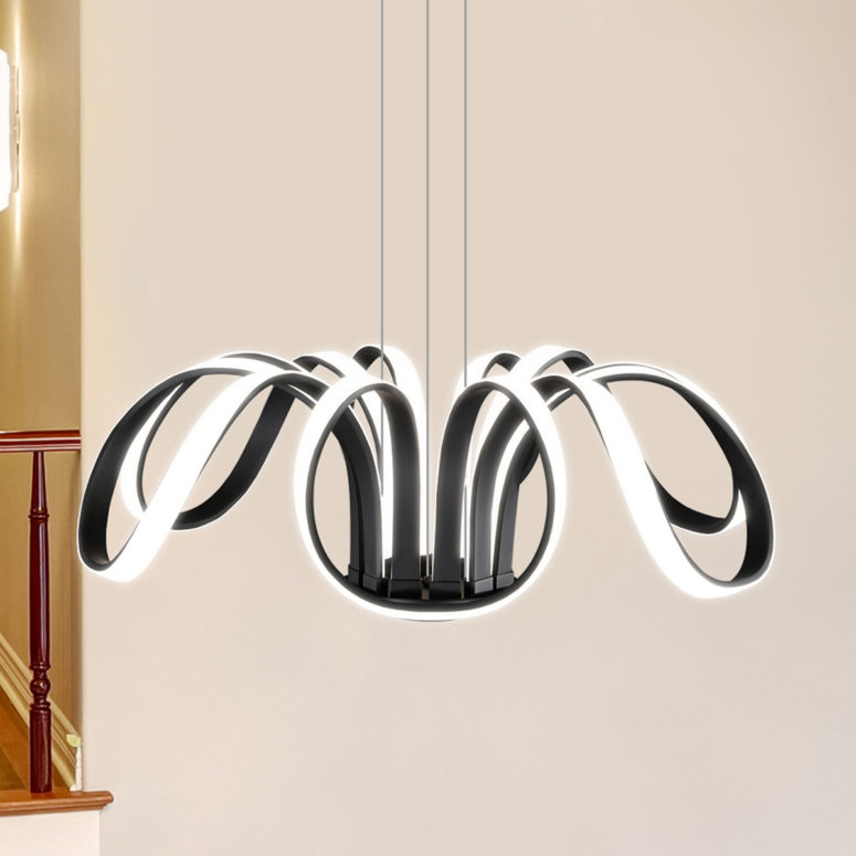 The design is inspired by the celestial bodies and looks modern and unique