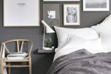 03 a stylish modern gallery wall with photos and posters for a girlish space