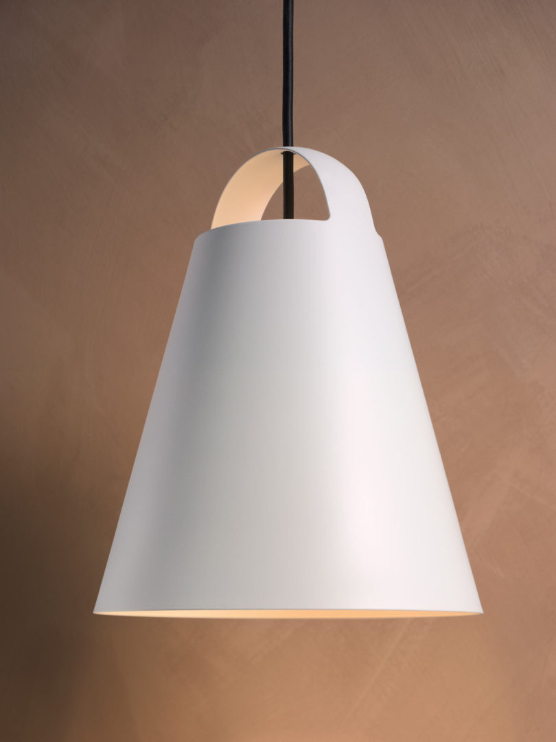 The lamp emits soft light downwards and some light upwards  too