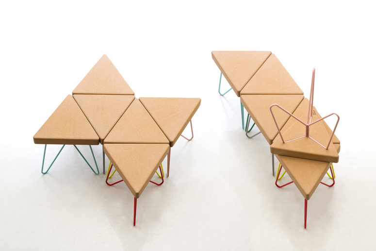 The stool can be used as a table, stool, chair, it's perfect for kids' spaces
