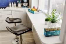 04 a modern windowsill bar with leather stools and a nice view to enjoy