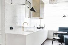 almost all-white kitchen design