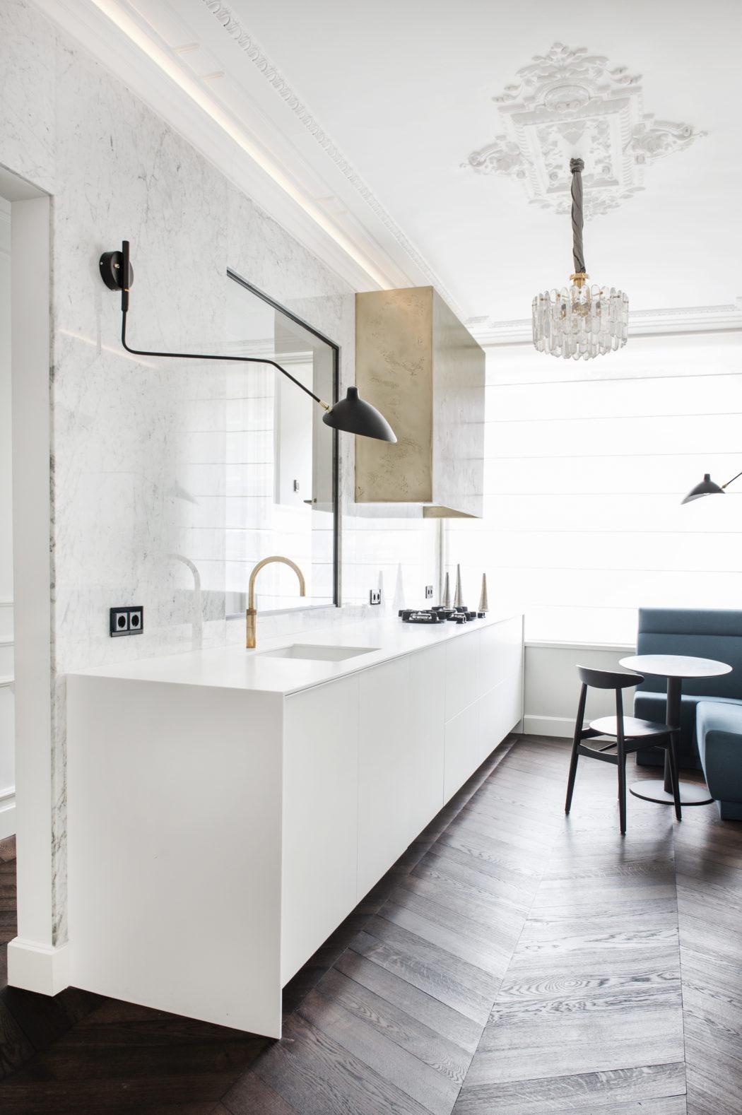 almost all white kitchen design