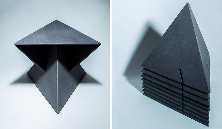 What a genius idea for a modern and chic geometric piece, simple and chi-looking