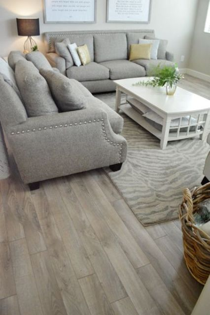 laminate exists in planks and tiles and there are lots of shades and looks, so you can easily find a fit